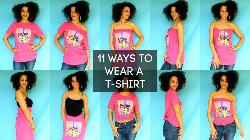 11 Ways To Wear a T-shirt | Fashion Hacks Capsule Wardrobe