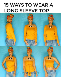 15 Ways To Wear a Long Sleeve Top | Travel Capsule Wardrobe