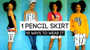 10 Ways To Style a Pencil Skirt | Colorful Capsule Wardrobe