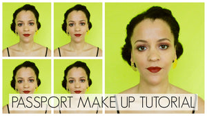 Passport Photo Makeup Tutorial | Easy Neutral Brown Makeup | 2 Eyeshadows Only!