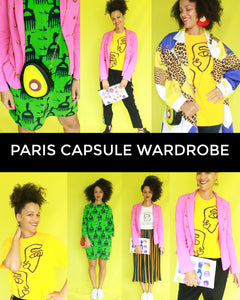 Paris Capsule Wardrobe - 13 Items = 28 Outfits with Sneakers