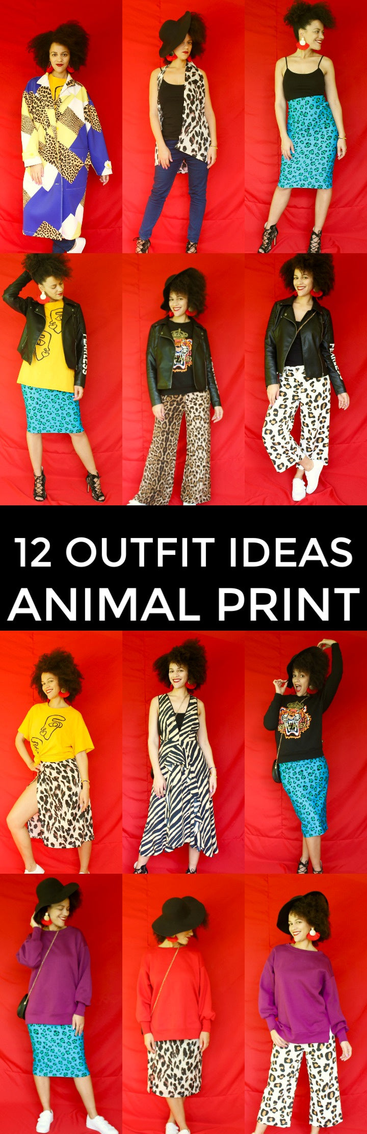12 Colorful Outfit Ideas with Animal Print | Lookbook 2018 | Capsule Wardrobe