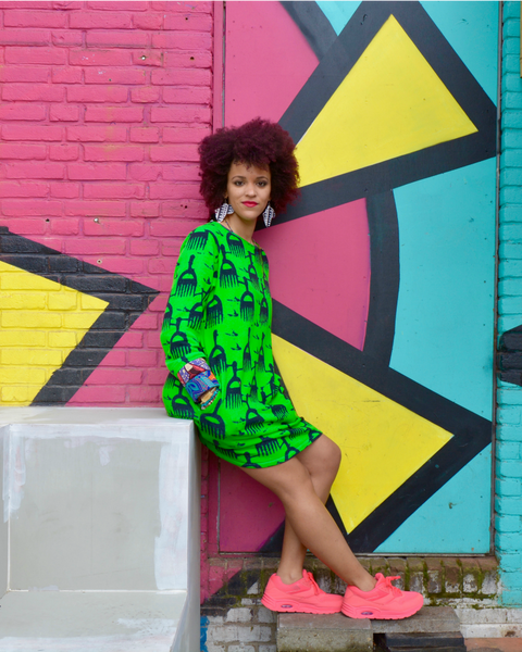 Afro Pick Sweater Dress Oversized