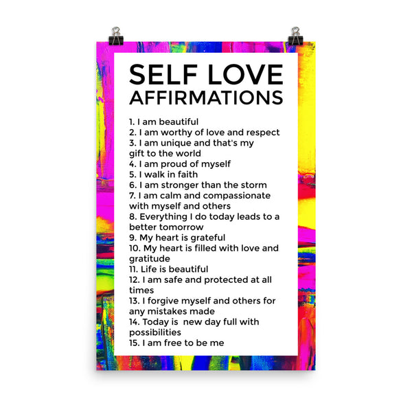 Self Love Affirmations Poster | Fanm Fortes