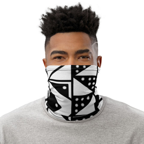 Black or White Mud Cloth Neck Gaiter