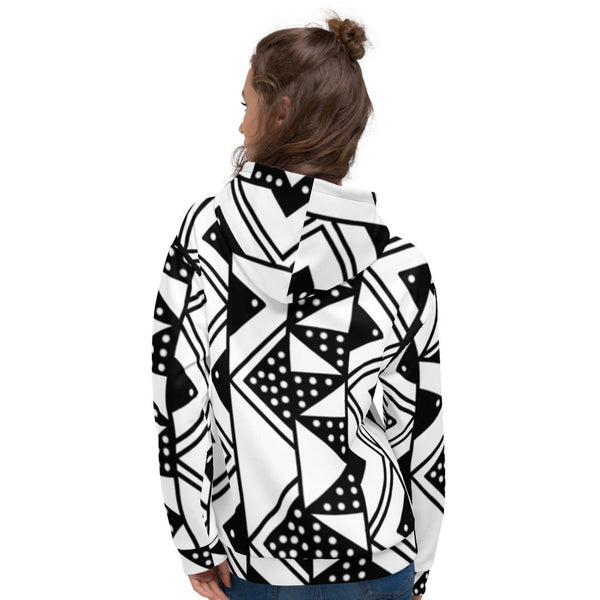 Black or White MudCloth Unisex Hoodie | Culture Couture