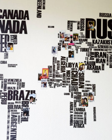 World Map Wall Art Sticker | Travel Room Decor