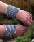 Raindrops Wrist Warmer Pattern