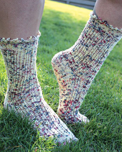 Queen Anne's Lace Socks