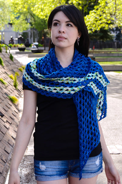Stribet Shawl Crochet Wrap