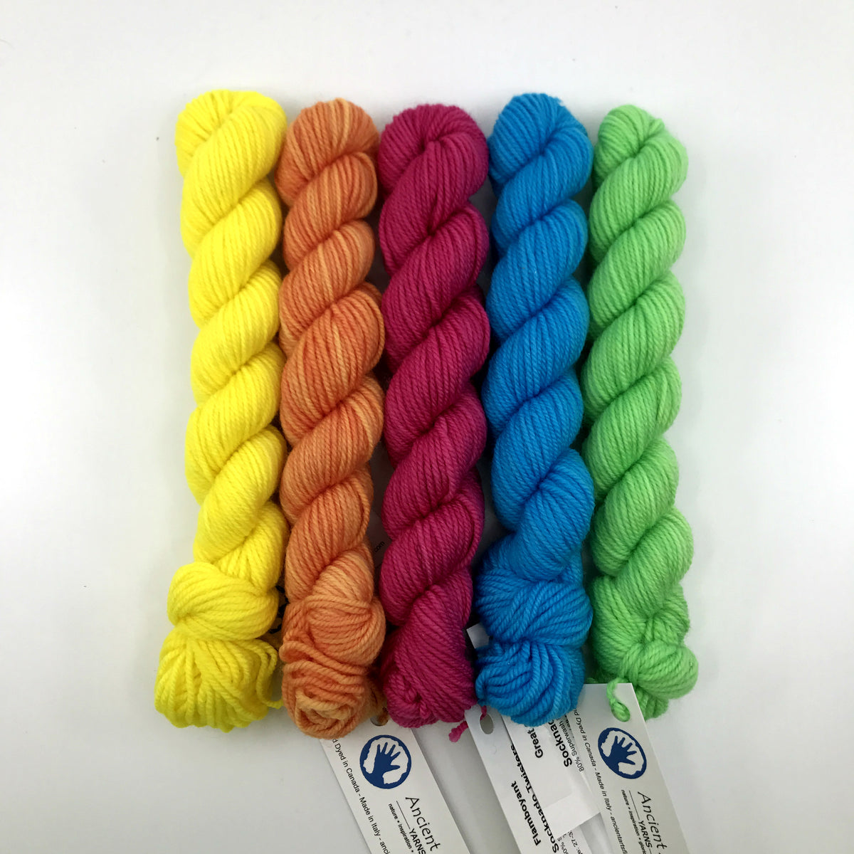 Socknado Twisters Mini Skein Set - Highlighter