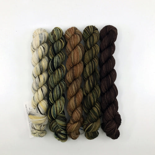 Socknado Twisters Mini Skein Set - Earth Tones