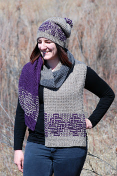 Mosaic Knot Scarf and Hat Pattern