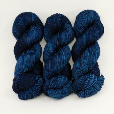 A Midnight Clear - Merino Silk Fingering - Dyed Stock