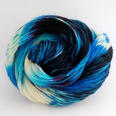 Arctic Midnight - Merino DK / Light Worsted - Dyed Stock