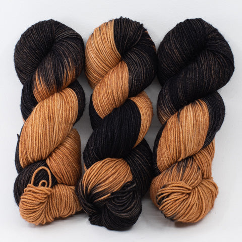 Black and Tan - Socknado Fingering - Dyed Stock