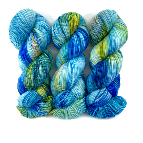 Blue Poppy - Merino Singles - Dyed Stock
