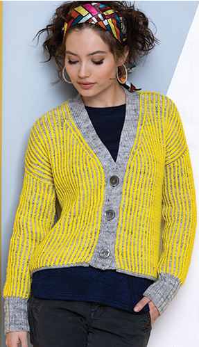 Vibes Brioche Cardi - Vogue Knitting Late Winter 2020