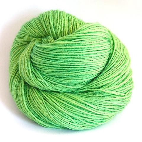 Cat's Eye Green - Little Nettle Soft Fingering - Dyed Stock