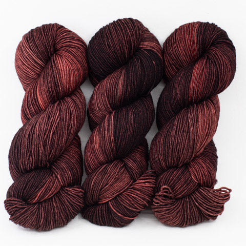 Chili Pepper Chocolate - Merino DK / Light Worsted - Dyed Stock