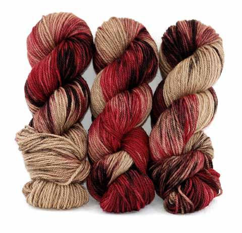 Chocolate Cherries-Lascaux Fine 50s - Dyed Stock