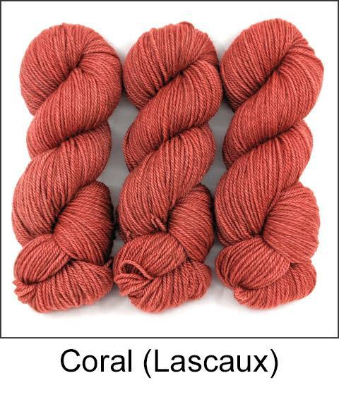 Coral-Lascaux Worsted - Dyed Stock