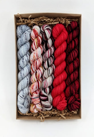Socknado Twisters Mini Skein Kit - Custom Kit 4 With Pattern!