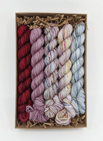 Socknado Twisters Mini Skein Kit - Custom Kit 6 With Pattern!
