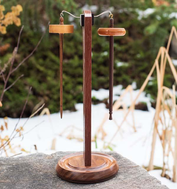 Blackwood & Walnut - Spindle Stand