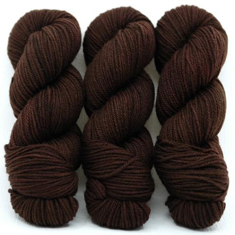 Dark Chocolate-Lascaux Worsted - Dyed Stock