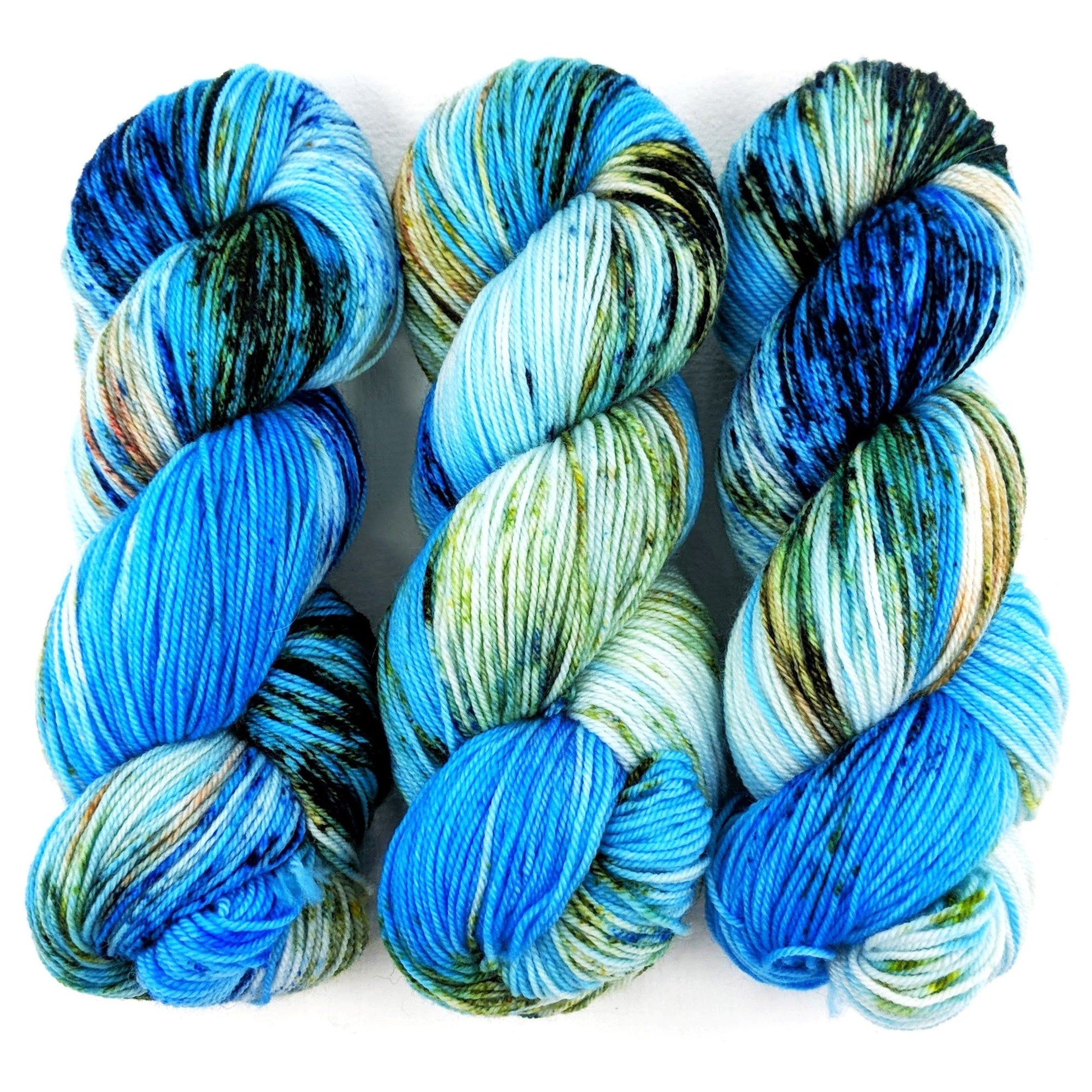 Wool On Skein Blue 100/% Wool Lace Weight