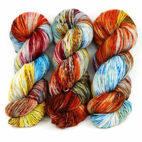 Fireworks in Revival Worsted - Dyed Stock
