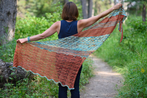 Monument Valley Shawl Pattern