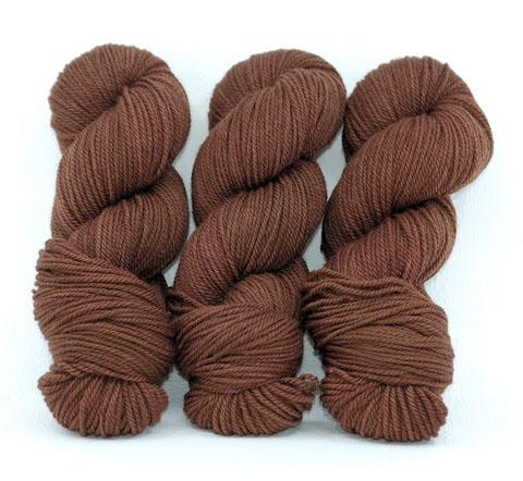 Milk Chocolate-Lascaux Worsted - Dyed Stock