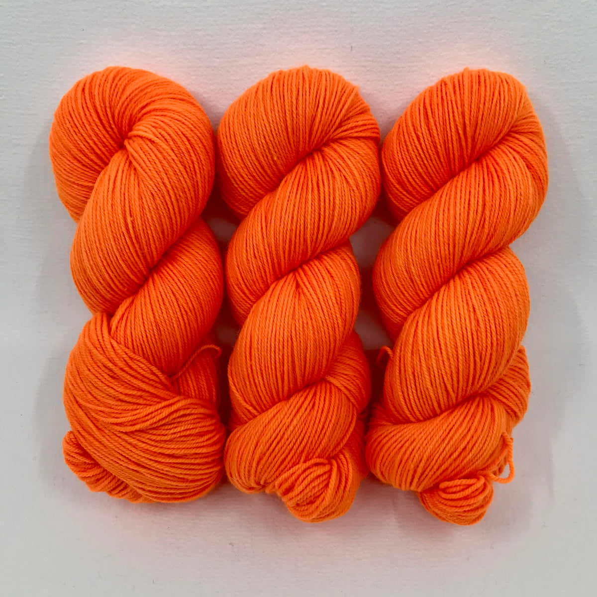 Orange Light Sabre - Merino Singles - Dyed Stock