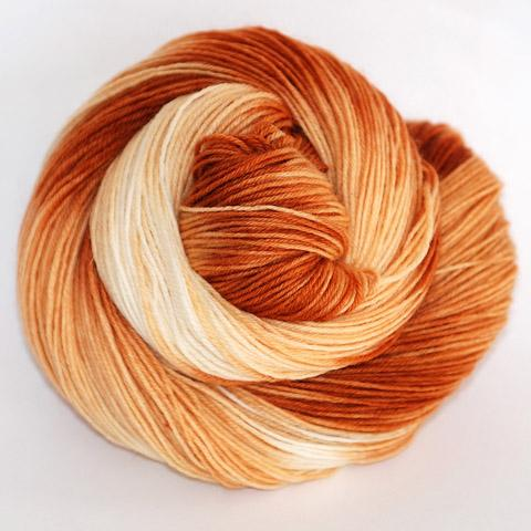 Orange Tiger Tabby - Little Nettle Soft Fingering - Dyed Stock