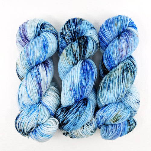 Picasso in Blue - Merino Singles - Dyed Stock