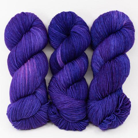 Purple Sequins - Merino Silk Fingering - Dyed Stock