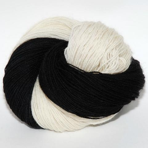 Tuxedo Cat - Little Nettle Soft Fingering - Dyed Stock