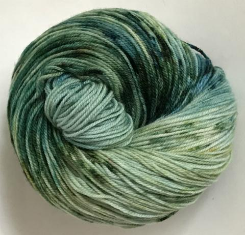 Whales in the Water - Merino DK / Light Worsted - Dyed Stock