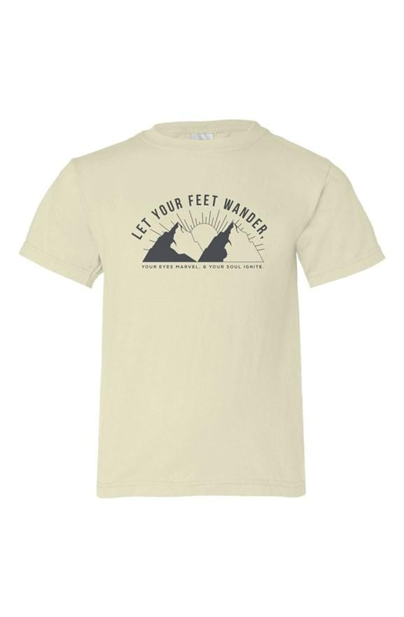 Let Your Feet Wander Youth Tee - Coastal Wilderness