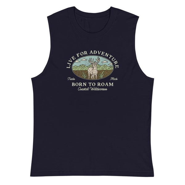 Born To Roam Sleeveless Tee - Coastal Wilderness