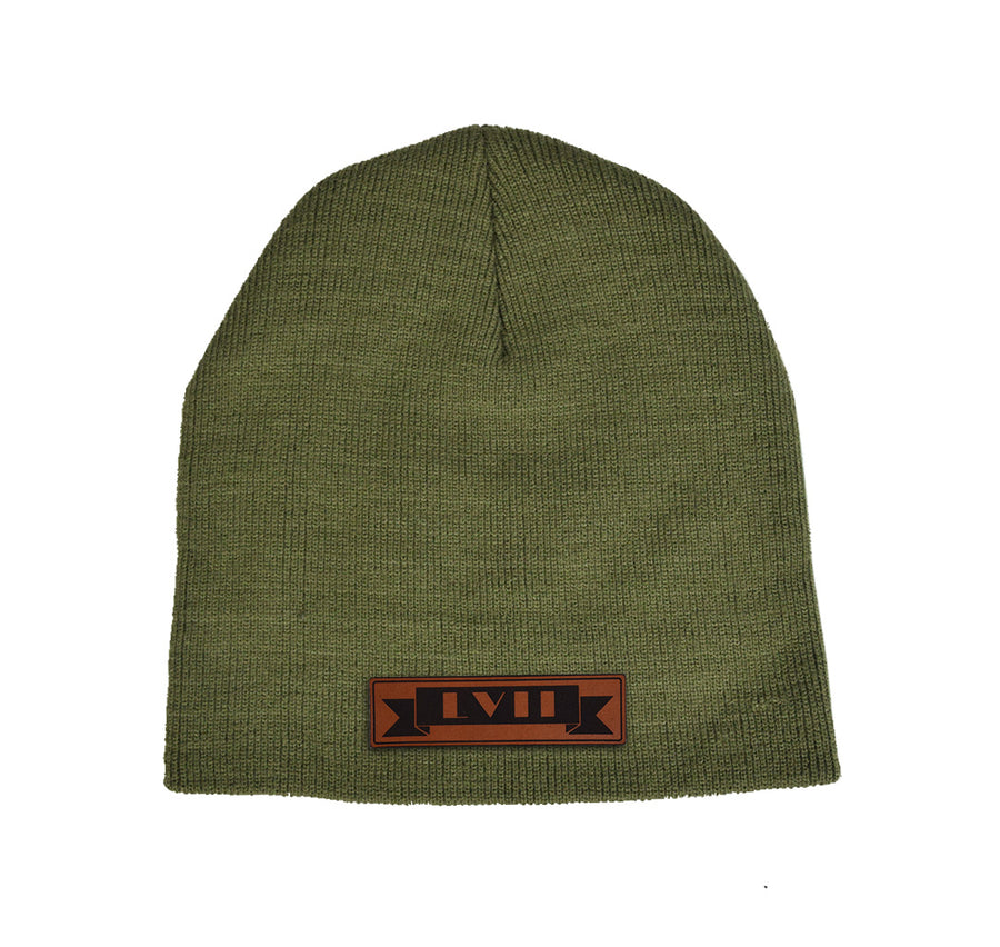 LVL7 Scroll Leather Beanie