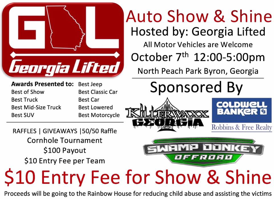 Georgia Lifted Auto Show and Shine – Rainbow House Charity Show