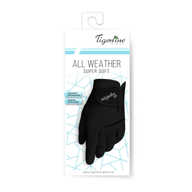 All Weather Super Soft Left Handed Golfer Glove Black