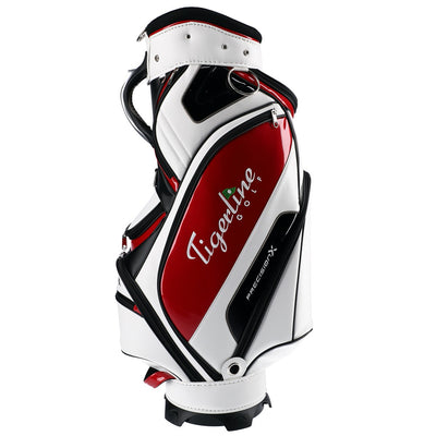 Precision X Carbon Edition Midsize Staff Cart Bag White