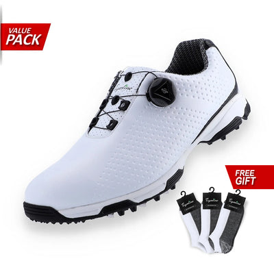 FITGO AUTO-LACING GOLF SHOE BLACK WITH FREE GIFT