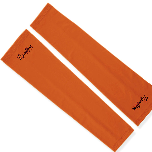 New & Improved High Compression Arm Sleeves Pair Orange