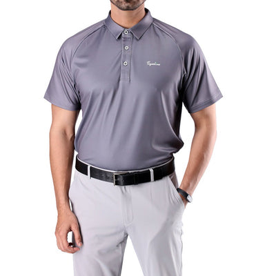 Mens Soft Essential Polo Gray