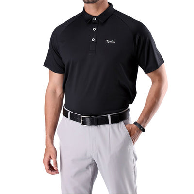 Mens Soft Essential Polo Black